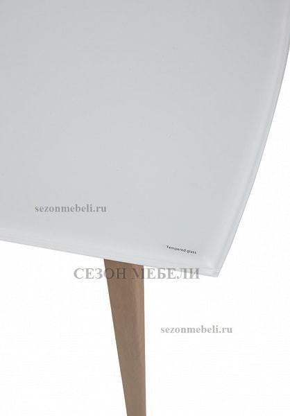 Стол ELIOT 120 Super white glass+Wood (фото, вид 4)