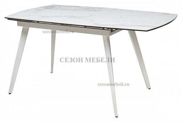 Стол ELIOT 120 CHINESE MARBLE WHITE керамика/ белый каркас (фото, вид 2)