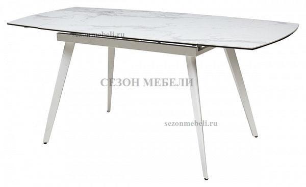 Стол ELIOT 120 CHINESE MARBLE WHITE керамика/ белый каркас (фото, вид 3)