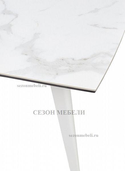 Стол ELIOT 120 CHINESE MARBLE WHITE керамика/ белый каркас (фото, вид 4)