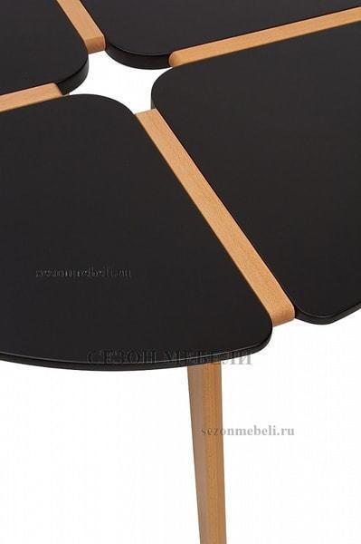 Стол JASMINE D90 черный/массив бука (фото, вид 1)
