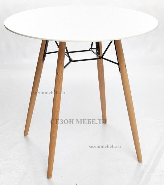 Стол CLIDE D80 белый/массив бука (фото, вид 1)