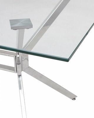 Стол SALERNO150 прозрачный (фото, вид 1)