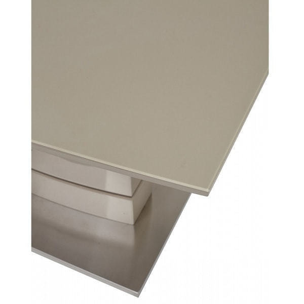 Стол DOVER 120 Шампань/Серый, матовое стекло (фото, вид 3)
