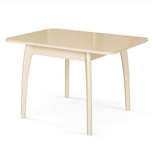 Стол №45 ДН4 слоновая кость/стекло бежевое (фото, вид 1)