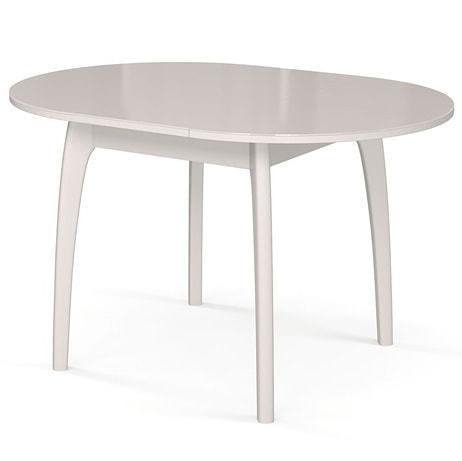 Стол №46 ДН4 белый/стекло белое (фото, вид 1)