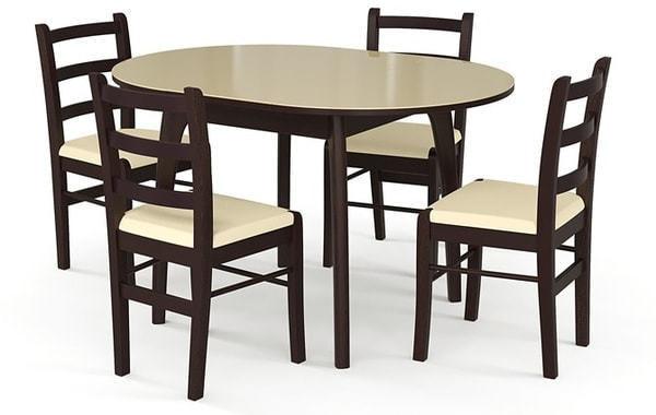 Стол №46 ДН4 венге/стекло бежевое (фото, вид 2)