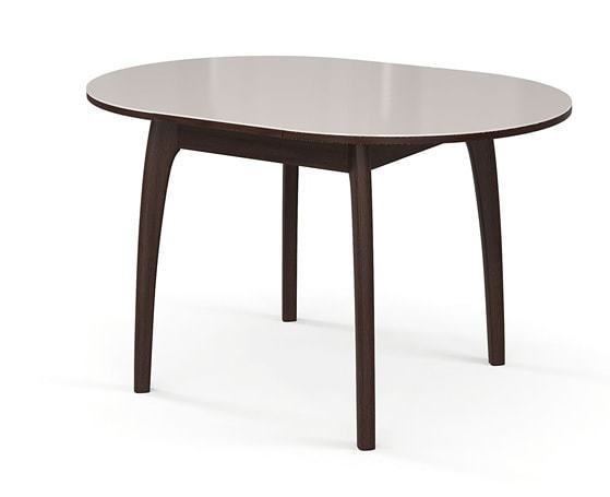 Стол №46 ДН4 венге/стекло белое (фото, вид 1)