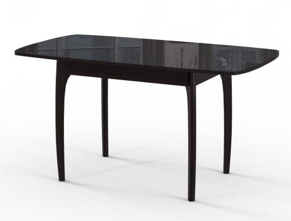 Стол М15 ДН4 венге/стекло черное (фото, вид 1)