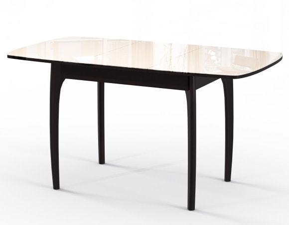 Стол М15 ДН4 венге/стекло бежевое (фото, вид 1)