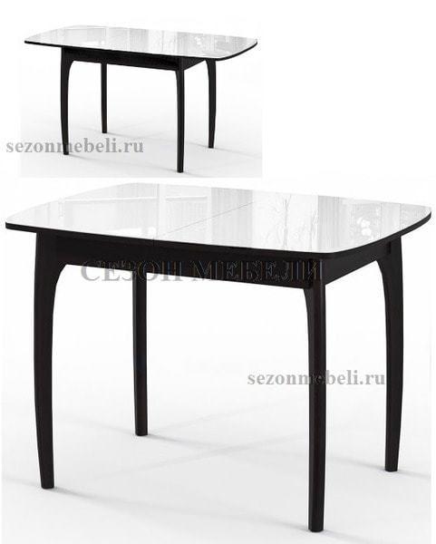 Стол М15 ДН4 венге/стекло белое (фото, вид 1)