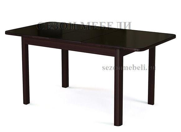 Стол №41 венге/ стекло черное (фото, вид 1)