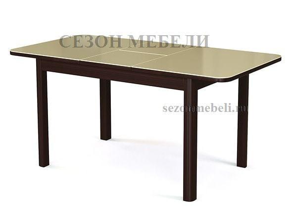 Стол №41 венге/ стекло бежевое (фото, вид 1)