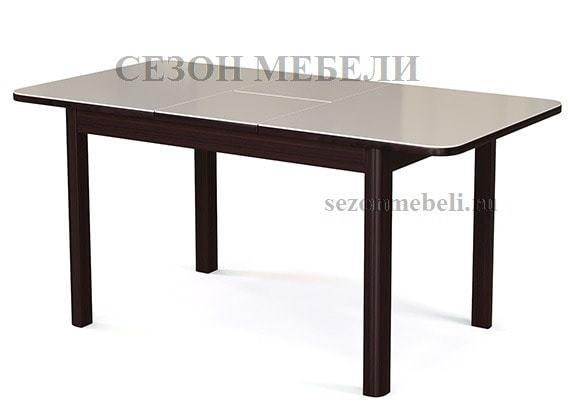 Стол №41 венге/ стекло белое (фото, вид 1)