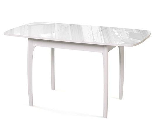 Стол №40 ДН4 белый/стекло белое (фото, вид 1)