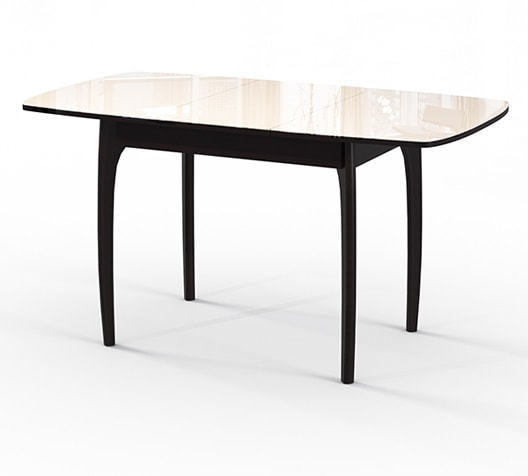 Стол №40 ДН4 венге/стекло бежевое (фото, вид 1)