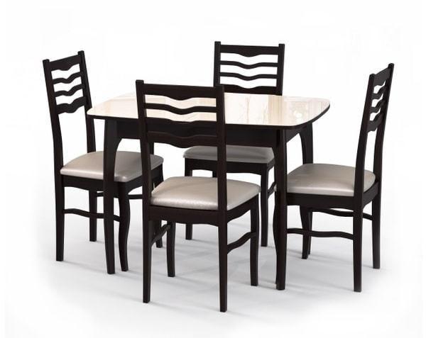 Стол №40 ДН4 венге/стекло бежевое (фото, вид 2)