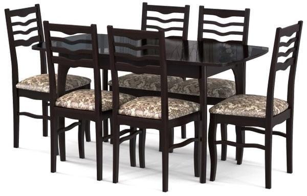 Стол №40 ДН4 венге/стекло черное (фото, вид 1)