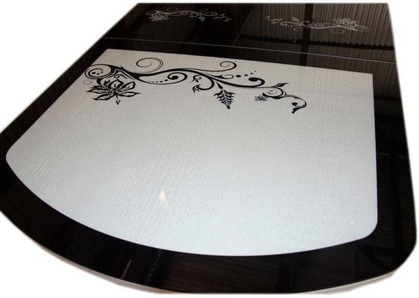 Стол Флоренция (белый/черный) (фото, вид 2)