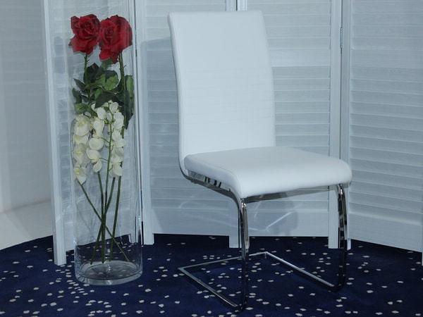 Стул PAULA белый PU#601B-10 (фото, вид 3)