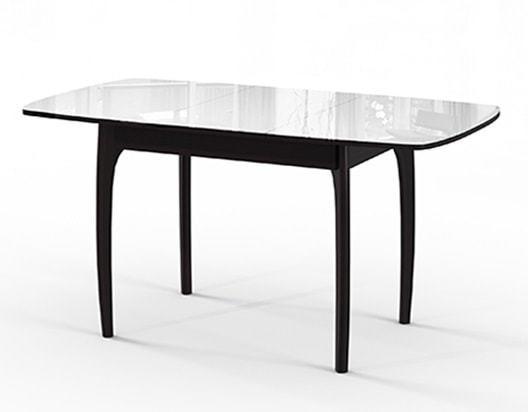 Стол №40 ДН4 венге/стекло белое (фото, вид 1)