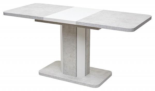 Стол STORK Белый бетон/ Белый 120 (фото, вид 1)