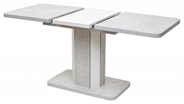 Стол STORK Белый бетон/ Белый 120 (фото, вид 2)