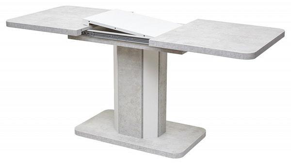Стол STORK Белый бетон/ Белый 120 (фото, вид 3)