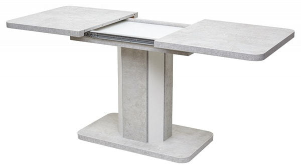 Стол STORK Белый бетон/ Белый 120 (фото, вид 4)