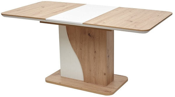 Стол SIRIUS Дуб Артисан/ Белый 120 (фото, вид 1)
