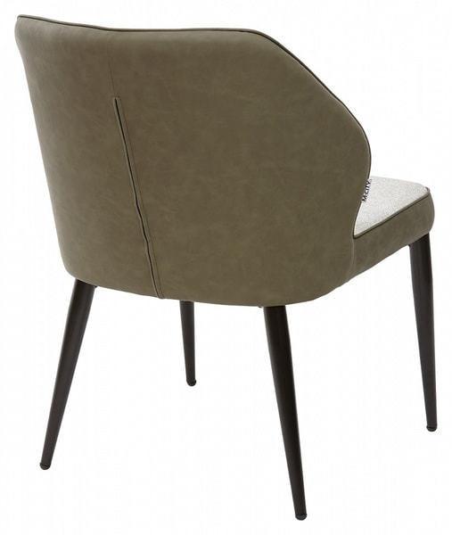 Стул-кресло RIVERTON светло-серый меланж FC-01/ экокожа хаки RU-04 (фото, вид 1)
