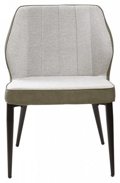 Стул-кресло RIVERTON светло-серый меланж FC-01/ экокожа хаки RU-04 (фото, вид 2)