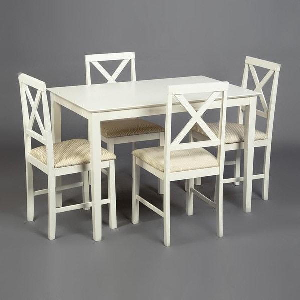 Обеденная группа Хадсон (стол + 4 стула)/ Hudson Dining Set (слоновая кость) (фото, вид 4)