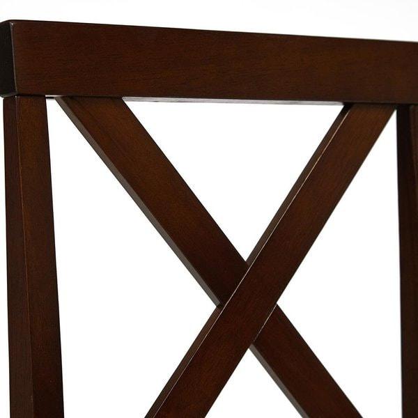 Обеденная группа Хадсон (стол + 4 стула)/ Hudson Dining Set (темный орех) (фото, вид 6)