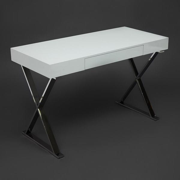 Стол письменный Lazetti (mod. EWD-HS01) Белый (фото, вид 4)