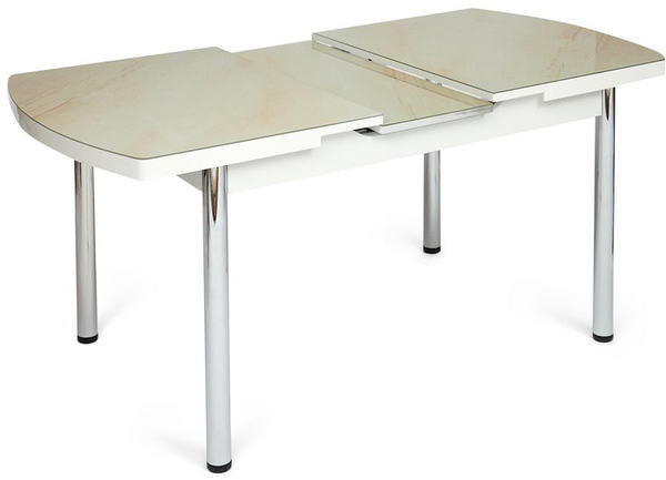 Стол Marmaris (mod. 18) (кремовый мрамор) (фото, вид 2)