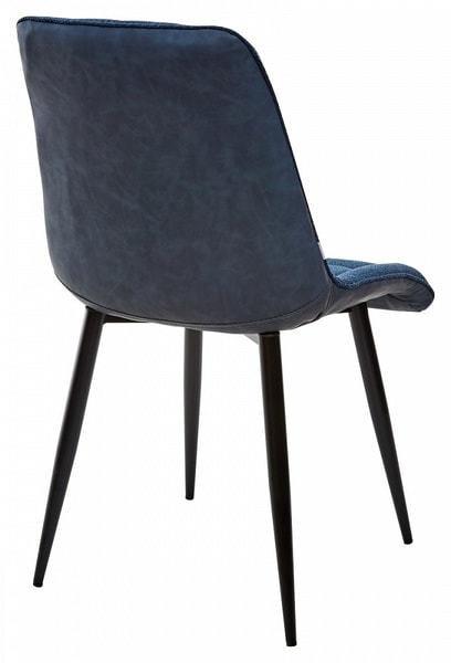 Стул CHIC TRF-06 полночный синий, ткань/ RU-03 синяя сталь, PU (фото, вид 1)