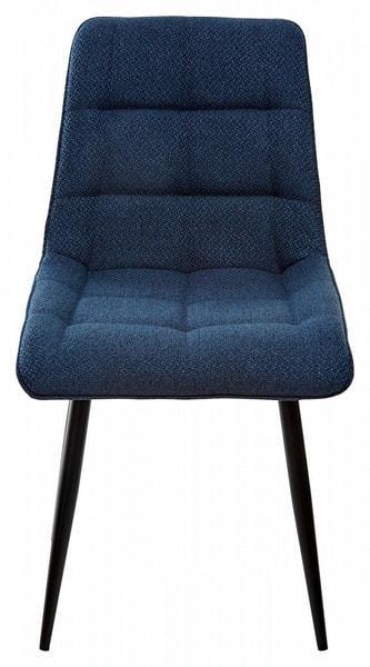 Стул CHIC TRF-06 полночный синий, ткань/ RU-03 синяя сталь, PU (фото, вид 2)