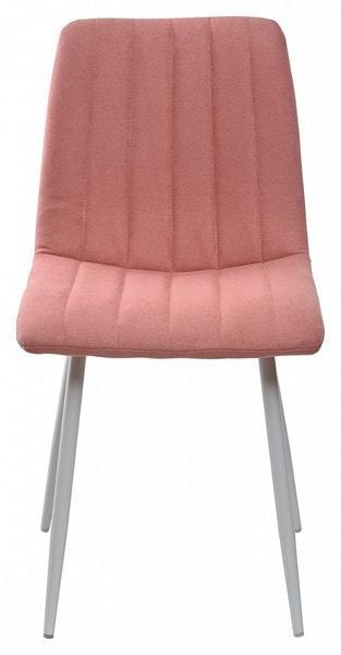Стул DUBLIN UF860-05B розовый, ткань/ белый каркас (фото, вид 2)