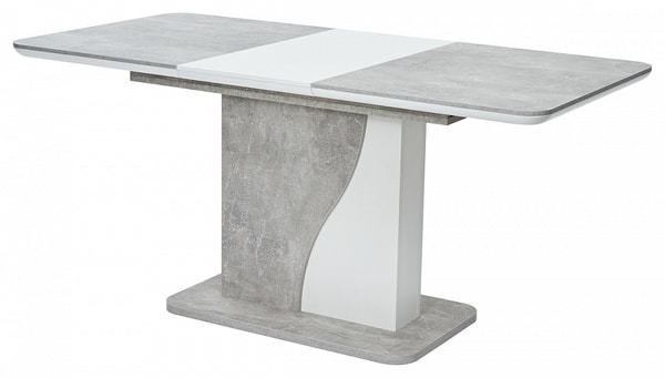 Стол SIRIUS Бетон/ Белый 120 (фото, вид 1)