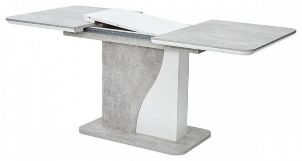 Стол SIRIUS Бетон/ Белый 120 (фото, вид 2)
