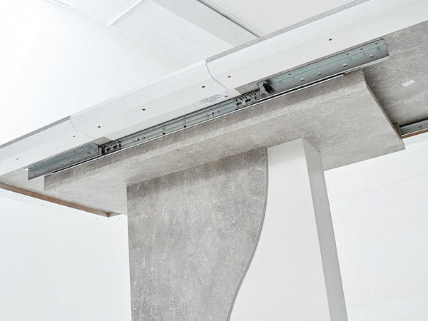 Стол SIRIUS Бетон/ Белый 120 (фото, вид 4)