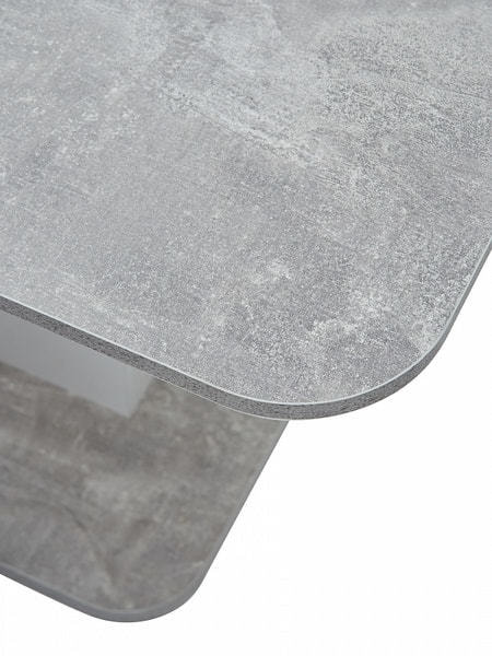 Стол SIRIUS Бетон/ Белый 120 (фото, вид 5)