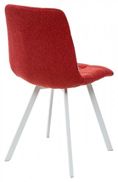 Стул CHILLI SQUARE TRF-04 красный, ткань/ белый каркас (фото, вид 1)