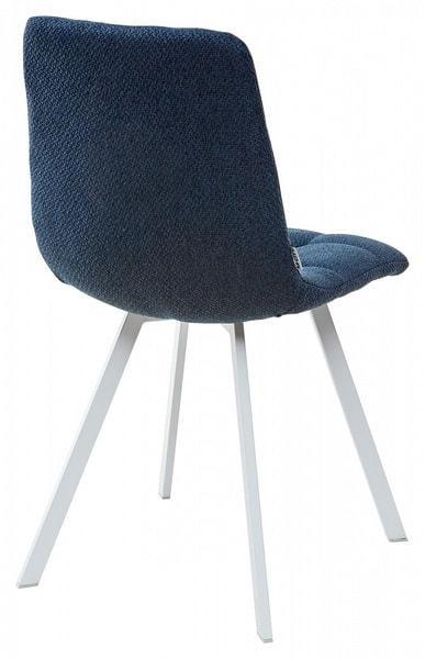 Стул CHILLI SQUARE TRF-06 полночный синий, ткань/ белый каркас (фото, вид 1)