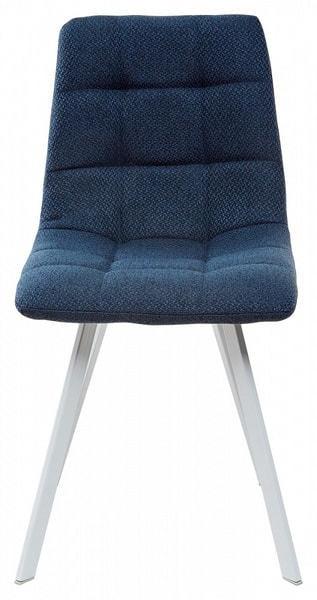 Стул CHILLI SQUARE TRF-06 полночный синий, ткань/ белый каркас (фото, вид 2)
