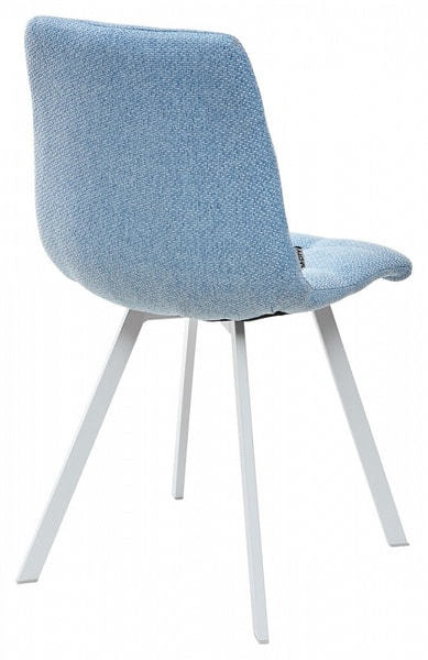 Стул CHILLI SQUARE TRF-10 небесно-голубой, ткань/ белый каркас (фото, вид 1)