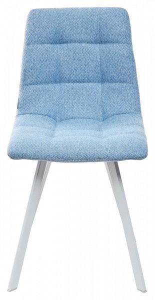 Стул CHILLI SQUARE TRF-10 небесно-голубой, ткань/ белый каркас (фото, вид 2)