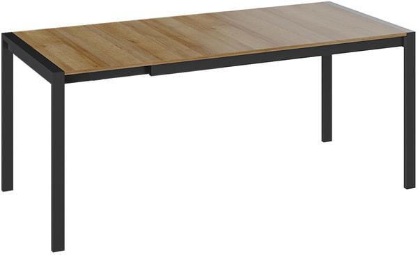 Стол обеденный Ванкувер тип 1 (Черный/ Ривьера) (фото, вид 1)