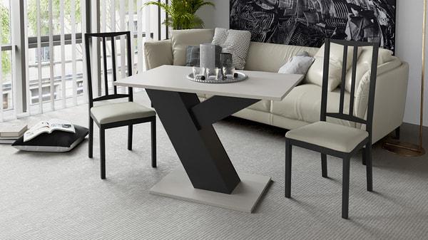 Стол обеденный Рейн Тип 1 (Фон черный/ Каттхилт) (фото, вид 1)